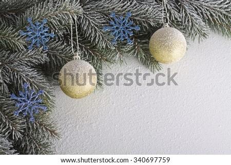 Christmas twig - stock photo