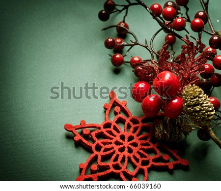 Christmas Vintage decoration - stock photo