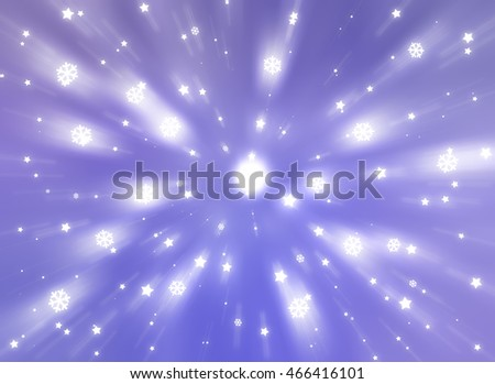 Christmas violet background with falling snowflakes.