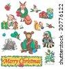 Christmas Wildlife - stock vector