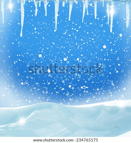 christmas winter background - stock photo
