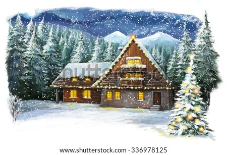 Christmas Cottage Stock Images Royalty Free Images