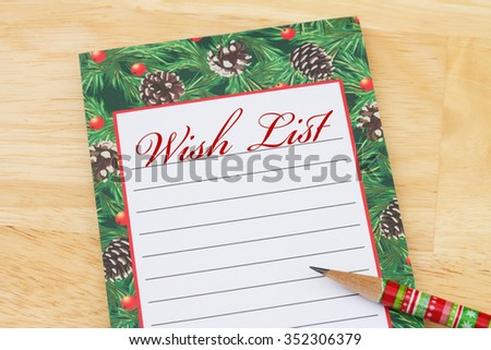 Christmas Wish List Photos RoyaltyFree Images Vectors – Wish Lists for Christmas