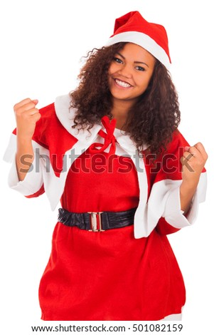 Christmas Woman-Young African American