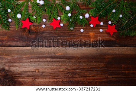 Christmas wood background star