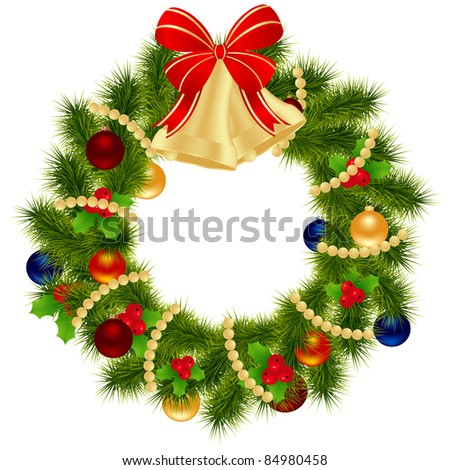 Christmas wreath for winter holydays designs.