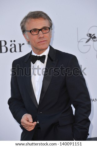 Christoph Waltz at amfAR's 20th Cinema Against AIDS Gala at the Hotel du Cap d'Antibes, France May 23, 2013  Antibes, France - stock photo