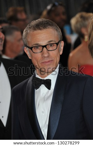 Christoph Waltz at the 85th Academy Awards at the Dolby Theatre, Hollywood. February 24, 2013  Los Angeles, CA Picture: Paul Smith