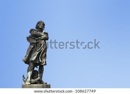 Christopher Columbus Statue - stock photo