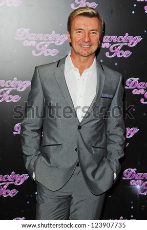 "Christopher Dean arriving for the launch of ""Dancing on Ice"" 2013 at LWT, South Bank, London. 03/01/2013 Picture by: Steve Vas - stock photo"