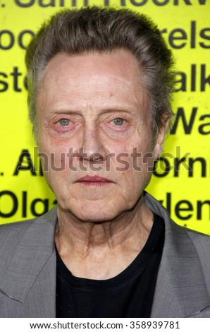 """Christopher Walken at the Los Angeles premiere of """"Seven Psychopaths"""" held at the Mann Bruin Theatre in Los Angeles, United States on October 1, 2012. - stock photo"""