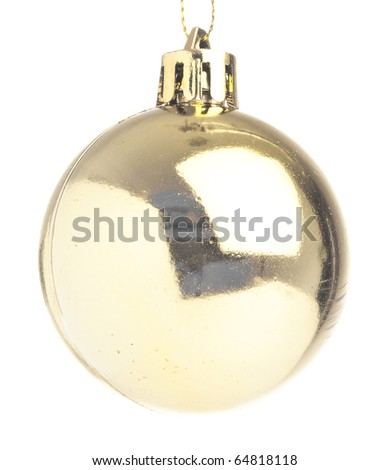 chritmas balls isolated on a white background - stock photo
