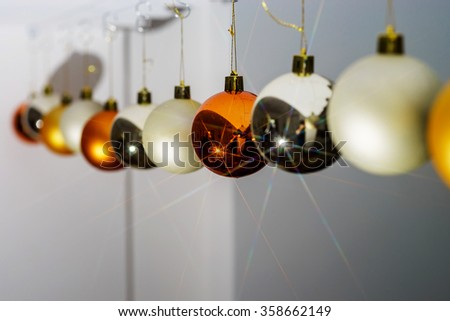 Chriustmas and New Year home indoor decoration, holiday concept