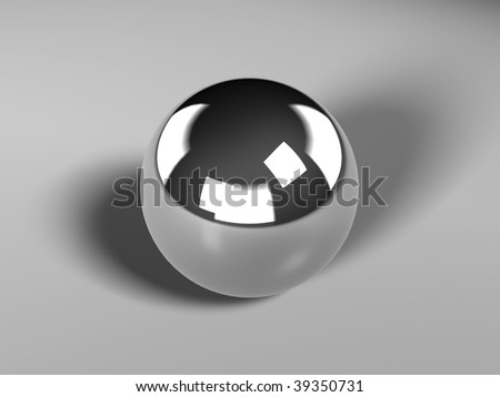 Chrome ball - stock photo