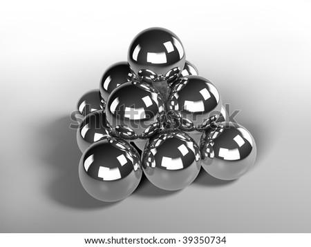 Chrome balls - stock photo