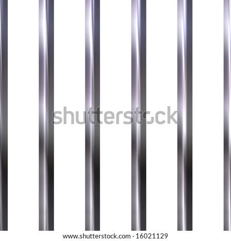 Chrome bars - stock photo
