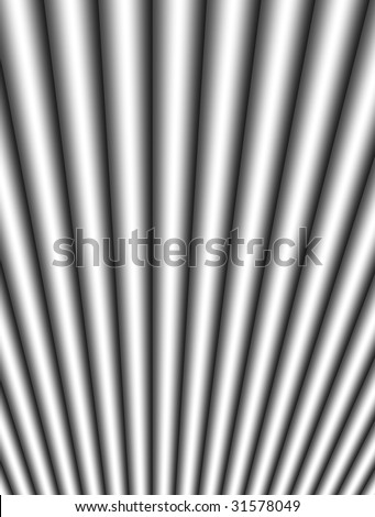 Chrome bars with perspective effect. Abstract illustration