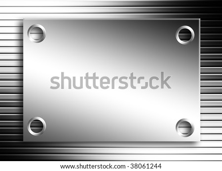Chrome board over lines background with light effects