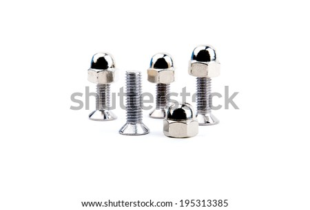 Chrome bolts with spherical nut