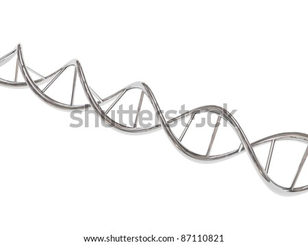 Chrome DNA - stock photo