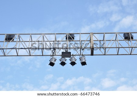 chrome electric concert - stock photo