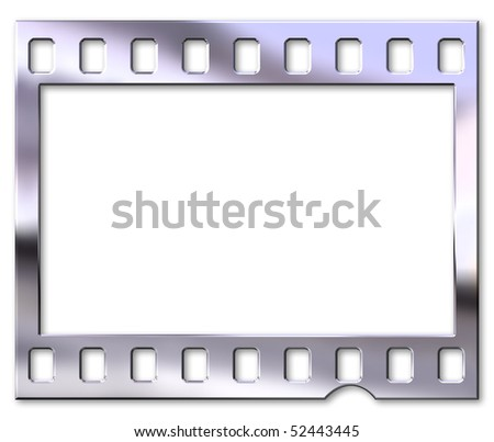 Chrome film negative - stock photo