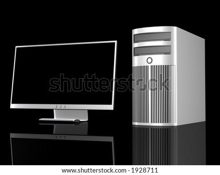 Chrome Workstation - stock photo