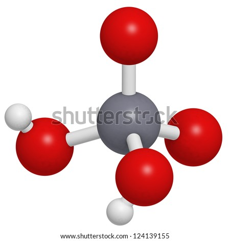 Chromic acid  (H2CrO4) molecule, chemical structure. Chromic acid is a highly corrosive oxidising agent and contains the highly toxic and carcinogenic hexavalent chromium. - stock photo