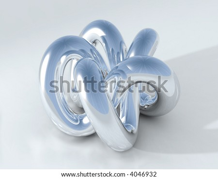 chromium  Knot - stock photo