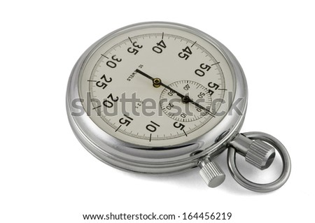Chronometer mechanic isolated with clipping path  - stock photo