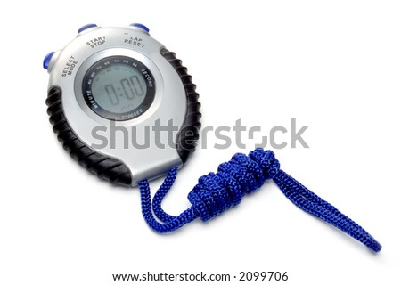 chronometer on white background ready to go - stock photo