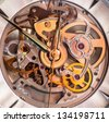 Chronometer. Watch. Color in the metal. - stock photo