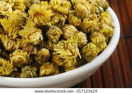 chrysanthemum tea - stock photo