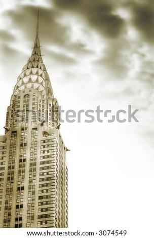 Chrysler building, New York City,Manhattan,United States of America - stock photo