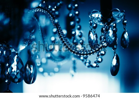 Chrystal chandelier close-up - stock photo