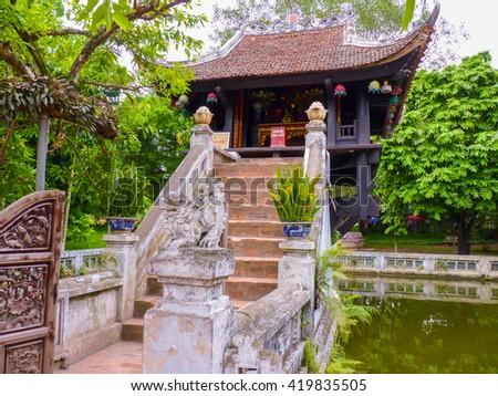 Chua Mot Cot Pagoda, Hanoi, Vietnam - stock photo