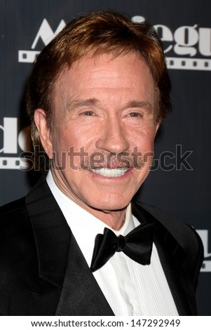 Chuck  Norris arriving at the Movieguide Family Awards 2009  at the Beverly Hilton Hotel in Beverly Hills, CA on  February 11, 2009 - stock photo