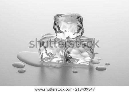 chunks of ice are melting - stock photo