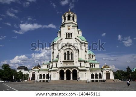 Church Aleksander Nevski, Sofia Bulgaria - stock photo