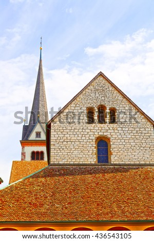 Church and Belfry in Switzerland
