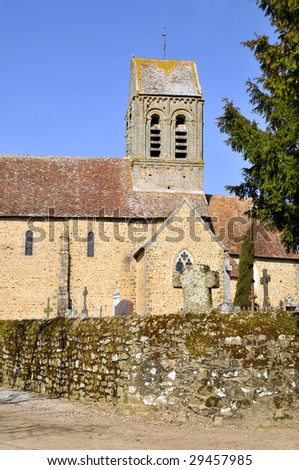 Church and cemetery of Saint-Ceneri-le-Gerei in France, department of the Orne