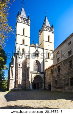 church and monastery, Hronsky Benadik, Slovakia