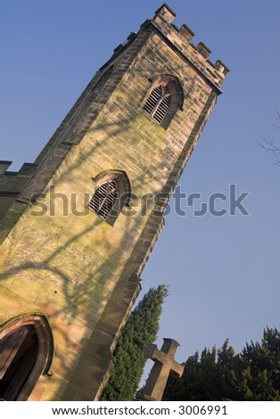 Church At Calke Abbey, Derbyshire, England - stock photo