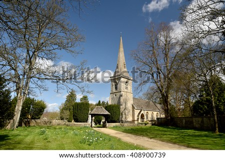 Church at Lower Slaughter in Cotswolds, Gloucestershire