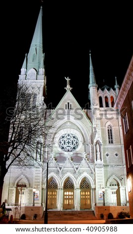 Church at Night - stock photo