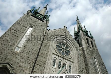 Church background - stock photo