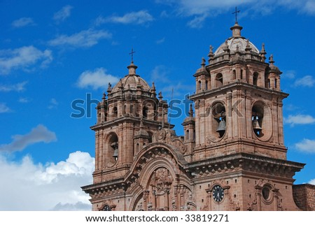 church bell towers - stock photo