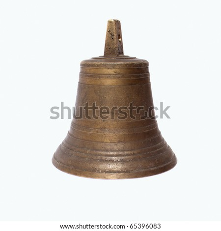 Church bells from the old yellow metal - stock photo