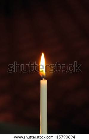 Church candle - stock photo