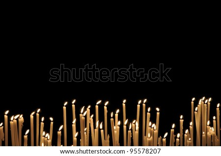 Church Candles - stock photo